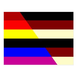 Fur Colored Rainbow Bear Flag Postcard