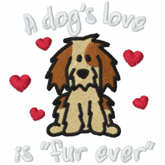 Fur Ever Dog Love Embroidered Hoodies