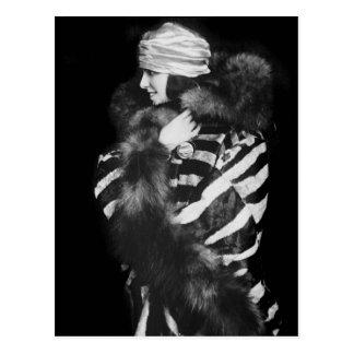 Fur Fashion, 1920s Postcard