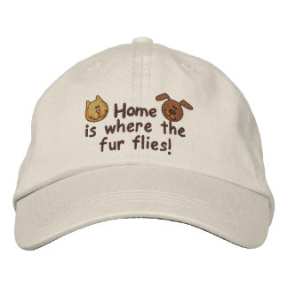 Fur Flies Embroidered Baseball Caps