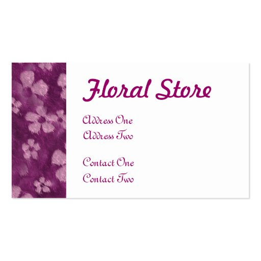 Fur Flowers BusinessCards Double-Sided Standard Business Cards (Pack Of 100)