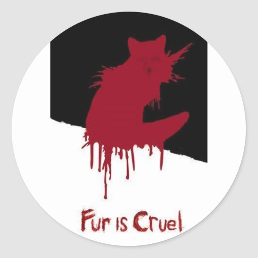 Fur is Cruel Sticker