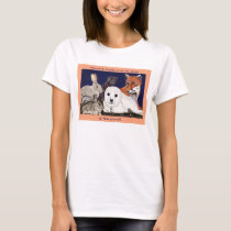 Fur Is For Wonder, Not Wear womens baby doll white T-Shirt