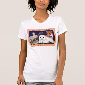 Fur Is For Wonder, Not Wear womens petite white T-Shirt