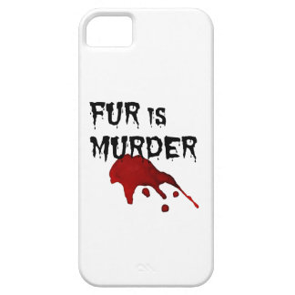Fur is Murder iPhone 5 Cases