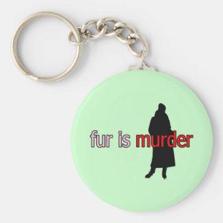 Fur is Murder Keychain