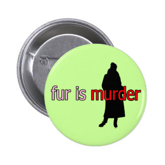 Fur is Murder Pinback Button