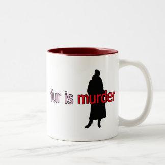 Fur is Murder Two-Tone Coffee Mug
