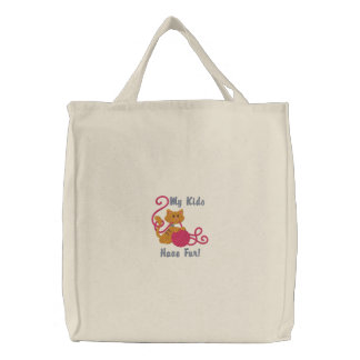 Fur Kids Embroidered Tote Bag
