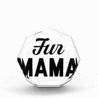 Fur Mama Acrylic Award