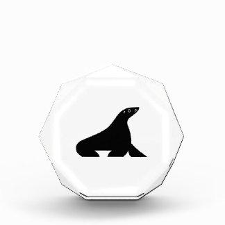 Fur seal acrylic award