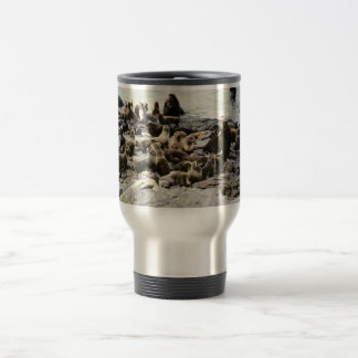 Fur Seal Colony at Haulout 15 Oz Stainless Steel Travel Mug
