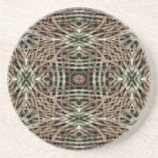 Fur Texture Abstract Pattern Sandstone Coaster