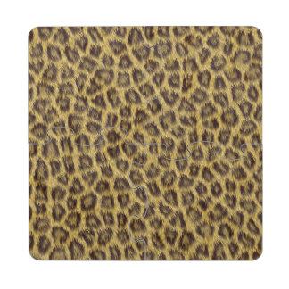 Fur texture puzzle coaster