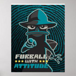 Furball con actitud posters