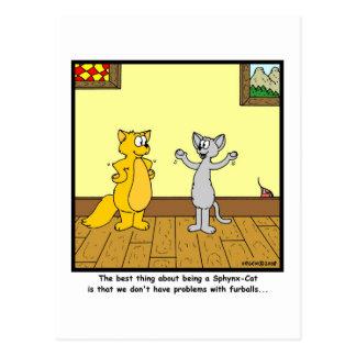 Furball: Sphynx cat cartoon Postcard