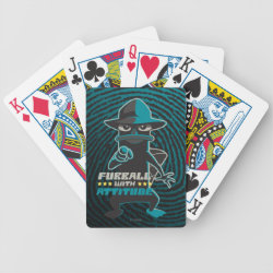 Playing Cards with Agent P - Furball with Attitude by Phineas and Ferb design