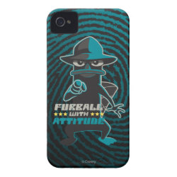 Case-Mate iPhone 4 Barely There Universal Case with Agent P - Furball with Attitude by Phineas and Ferb design