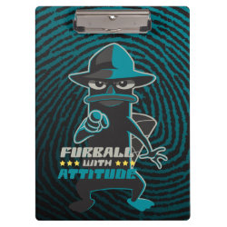 Clipboard with Agent P - Furball with Attitude by Phineas and Ferb design