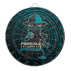 Megal Cage Dart Board with Agent P - Furball with Attitude by Phineas and Ferb design