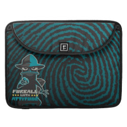 Macbook Pro 15' Flap Sleeve with Agent P - Furball with Attitude by Phineas and Ferb design