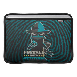 Macbook Air Sleeve with Agent P - Furball with Attitude by Phineas and Ferb design