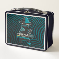 Metal Lunch Box with Agent P - Furball with Attitude by Phineas and Ferb design