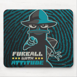 Mousepad with Agent P - Furball with Attitude by Phineas and Ferb design
