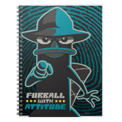 Photo Notebook (6.5' x 8.75', 80 Pages B&W) with Agent P - Furball with Attitude by Phineas and Ferb design