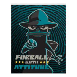 Agent P - Furball with Attitude by Phineas and Ferb Matte Poster