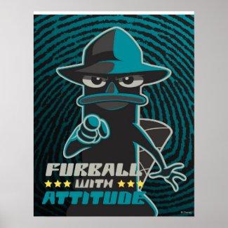 Furball With Attitude Print