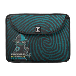 Macbook Pro 13' Flap Sleeve with Agent P - Furball with Attitude by Phineas and Ferb design