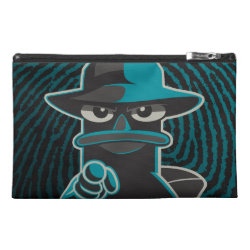 Travel Accessory Bag with Agent P - Furball with Attitude by Phineas and Ferb design