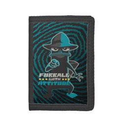 TriFold Nylon Wallet with Agent P - Furball with Attitude by Phineas and Ferb design