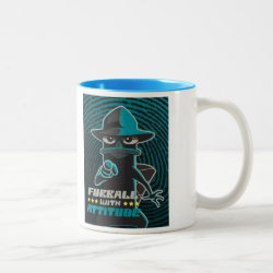 Two-Tone Mug with Agent P - Furball with Attitude by Phineas and Ferb design