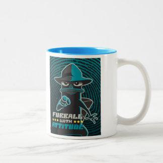 Furball With Attitude Two-Tone Coffee Mug