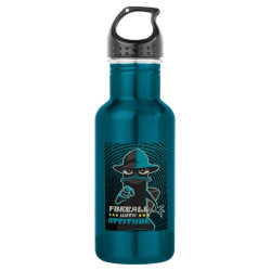 Water Bottle (24 oz) with Agent P - Furball with Attitude by Phineas and Ferb design