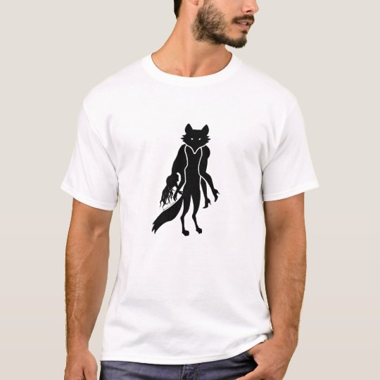 FURBIDDEN FOX MENS WHITE TEE no fur