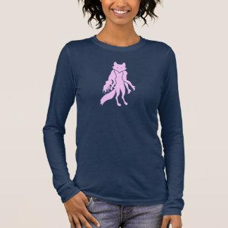 FURBIDDEN FOX PNK WOMEN'S LONG SL DRK anti fur Long Sleeve T-Shirt