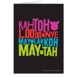 Furbish el texto tarjeta de felicitación