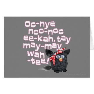 Furbish Talk Greeting Card