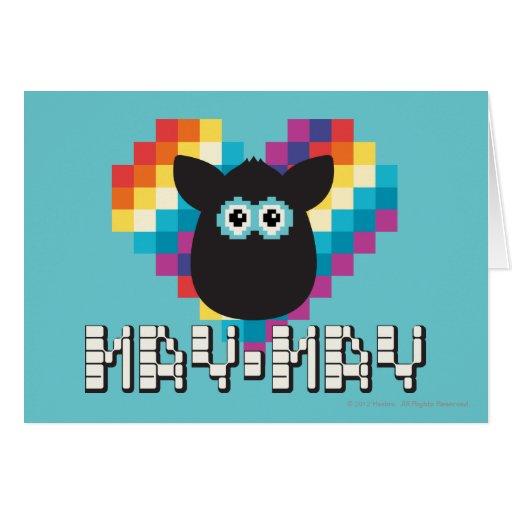 Furby a memoria de imagen: Mayo-mayo Tarjetón