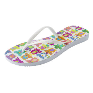 Furby Frenzie - on white Flip Flops