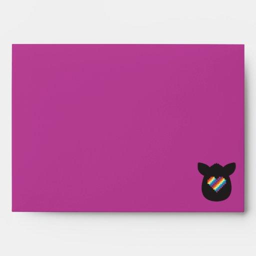 Furby Heart Envelopes