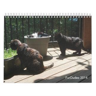 FurDudes 2014 Calendarios De Pared