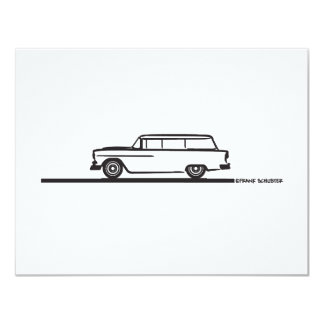 "Furgoneta 1955 de Chevy Invitación 4.25"" X 5.5"""