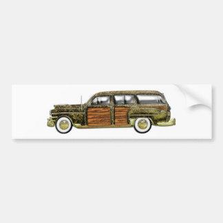 Furgoneta clásica de Woody Pegatina Para Auto