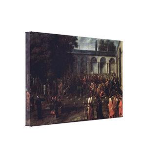 Furgoneta de Moure Jean-Baptiste - la audiencia en Impresión De Lienzo