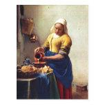 ¿Furgoneta Delft, enero Milchausgie de Vermeer? en Postales