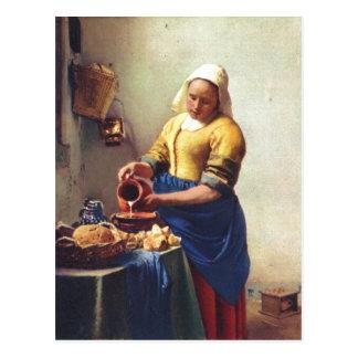 ¿Furgoneta Delft enero Milchausgie de Vermeer en Tarjetas Postales